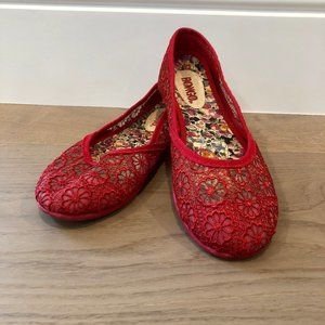 ✨2 for $15✨Red Crochet Flats